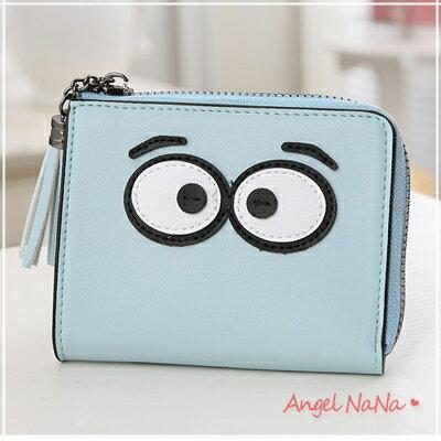 短夾。韓版 可愛大眼睛 糖果色 流蘇 女皮夾 零錢包【M162】AngelNaNa