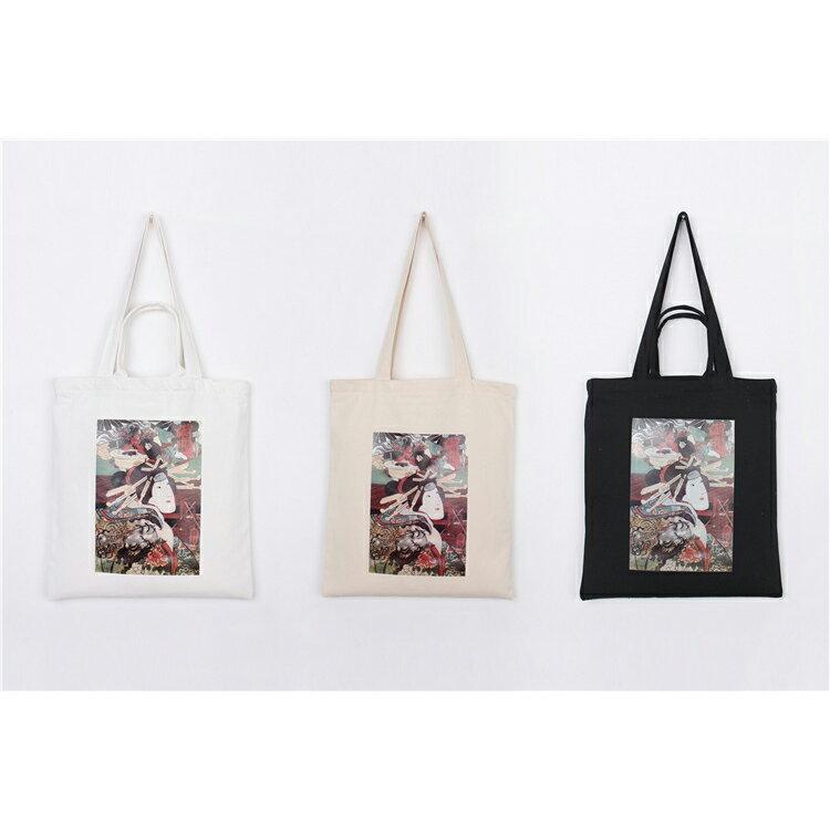 手提包 手提包 帆布袋 手提袋 環保購物袋--手提/單肩/拉鏈【SPA93】 BOBI  10/06 1