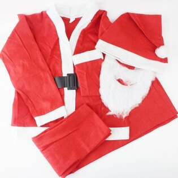兒童聖誕服/聖誕衣.聖誕老公公服裝.不織布四件套(小孩裝/男生)/一組入{促200}