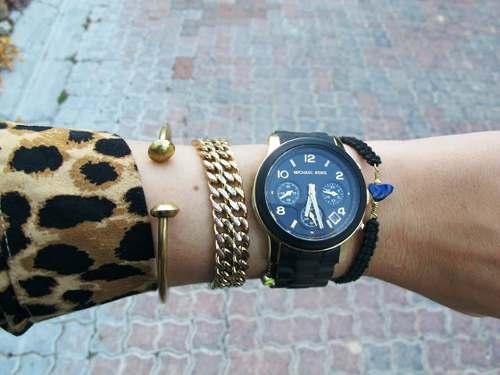 美國Outlet正品代購 MichaelKors MK 黑色橡膠 三環 運動風手錶腕錶 MK5191 7