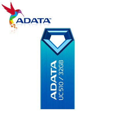 威剛 A-DATA 隨身碟 超薄防水碟 32G 藍 UC510 / 個