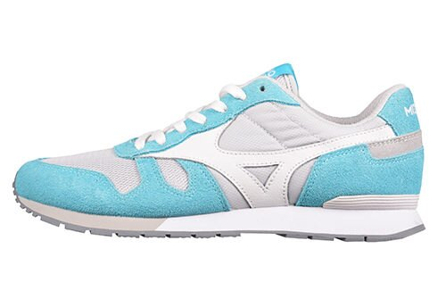 MIZUNO美津濃 復古系列 女休閒款慢跑鞋 藍白 2