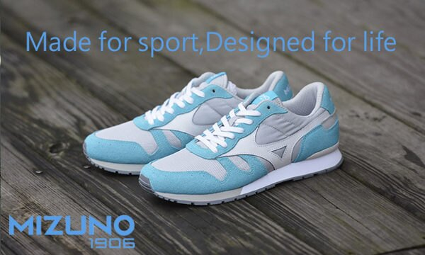 MIZUNO美津濃 復古系列 女休閒款慢跑鞋 藍白 0