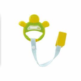 Richell利其爾 - 固齒器 翠綠色手指型 (附固定夾) 0