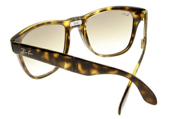 Ray Ban 雷朋 琥珀玳瑁 太陽眼鏡 RB4105 折疊 6
