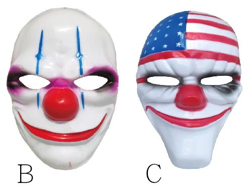 X射線【W430190】塑膠造型面具-小丑,萬聖節/派對/舞會道具/cosplay/表演/戰士/異形/尾牙/搞怪/骷髏/頭套