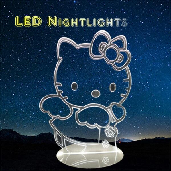 北歐 Hello Kitty 凱蒂貓 小夜燈 卡通 LED燈 3D立體燈 生日禮物 交換禮物 情人節禮物