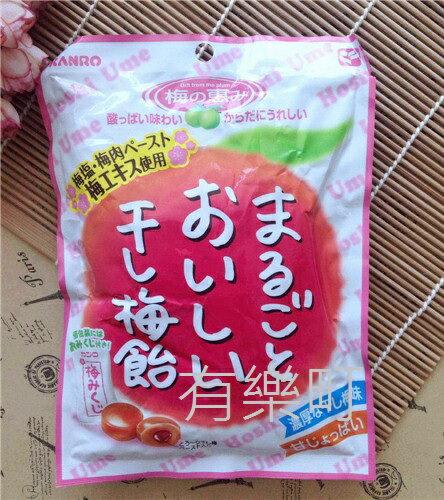 有樂町進口食品 日本 KANRO 甘樂甘梅飴 無籽梅乾 幸運籤梅子夾心糖 望梅止渴 梅子糖 上班這檔事 4901351014721 0