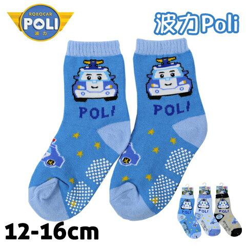 【esoxshop】止滑童襪 救援小英雄波力 波力 警車款 PL-S2201B 台灣製 POLI
