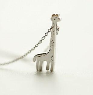 Tokyo Alice 925純銀長頸鹿動物園項鏈,項鏈立體飾品首飾銀飾甜美(s0000135)
