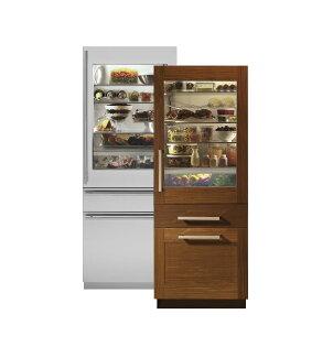 美國GE奇異 ZIK30GND 30吋崁入式上冷藏透明玻璃三門冰箱(405L)【零利率】 ※熱線07-7428010