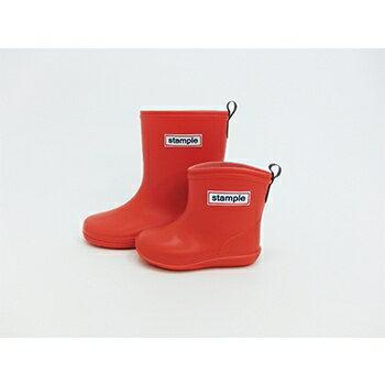 【本月贈鞋墊】日本【Stample】兒童雨鞋(陽光橘) 2