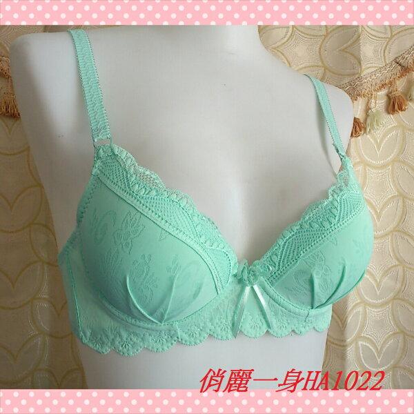 卡哇乙內衣3段3排扣下厚上薄32/34/36(AB罩單內衣)俏麗一身HA1022