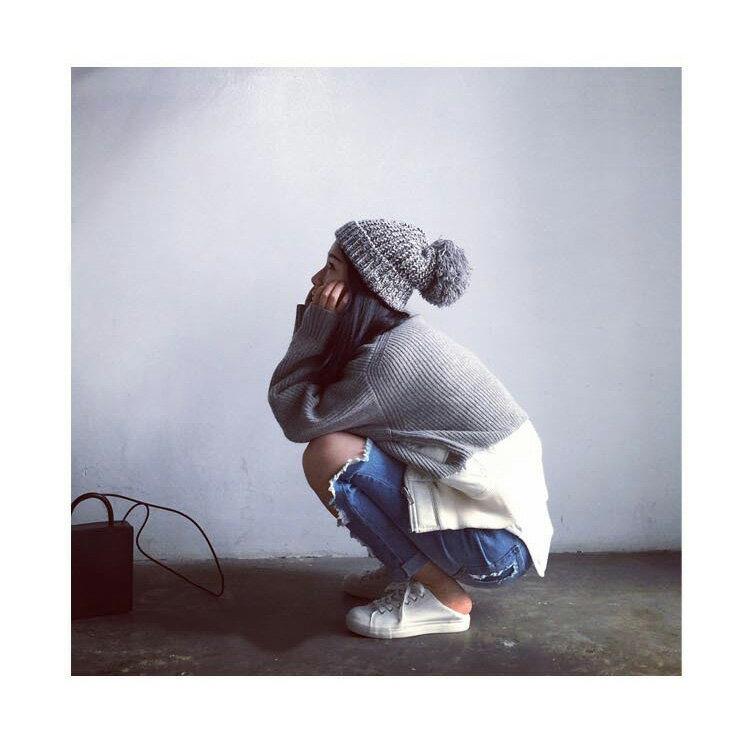 毛帽 加大毛球粗毛線護耳加厚針織帽【QI1693】 BOBI  11/03 1