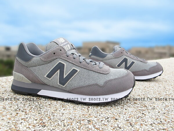 Shoestw【ML515RTB 】NEW BALANCE 復古鞋 515 麻灰 男生