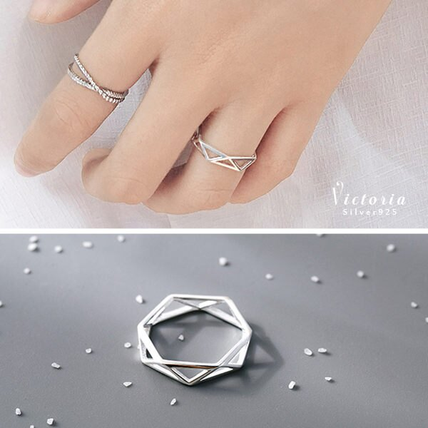 S925純銀優雅知性大方 吸引目光 戒指~維多利亞160907