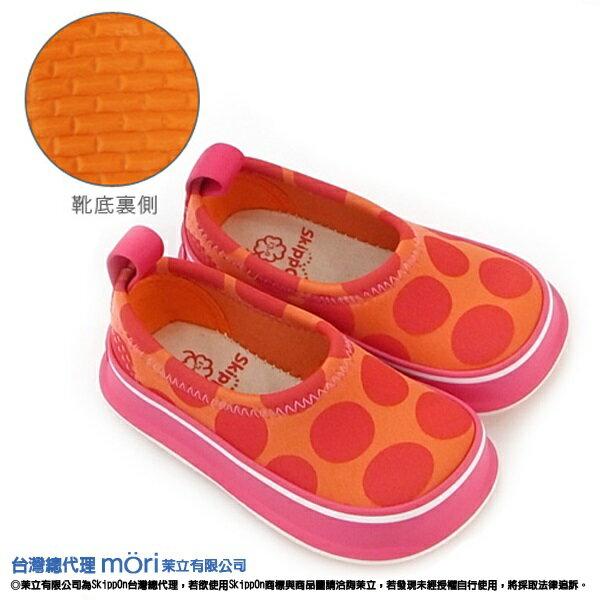 日本熱賣SkippOn幼兒戶外機能鞋-紅橘點點