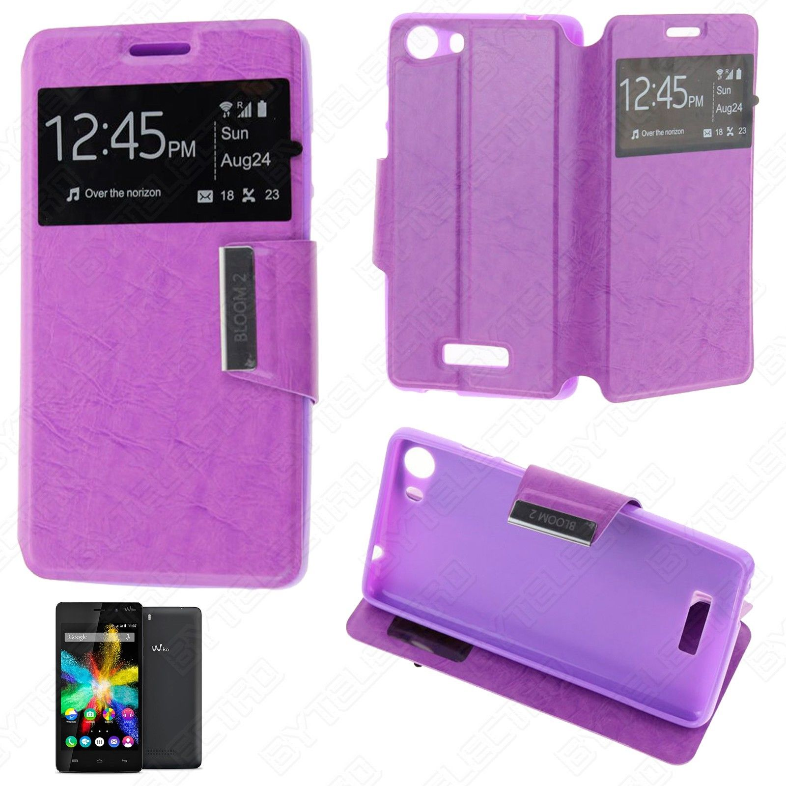 Funda Tipo LIBRO VENTANA Stand WIKO BLOOM 2 (Color Opcional) 2