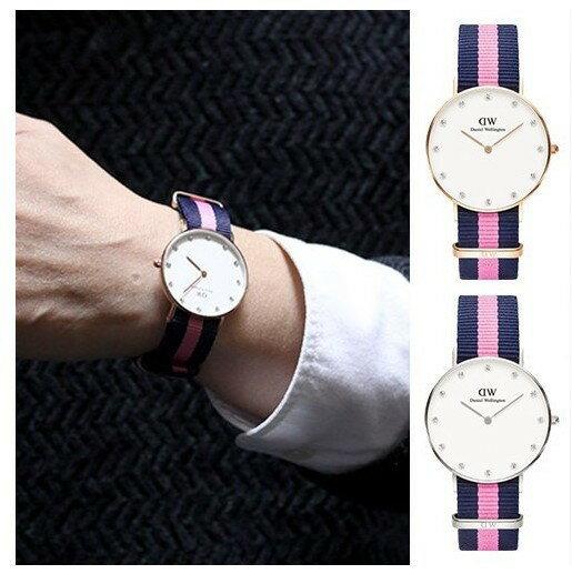 瑞典正品代購 Daniel Wellington 0952DW  玫瑰金 尼龍 帆布錶帶 女錶手錶腕錶 26MM 2
