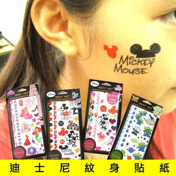日光城。迪士尼紋身貼紙,Disney正版迪士尼刺青貼紙 Tattoo轉印貼紙 史迪奇 玩具總動員 冰雪奇緣 艾莎 雪寶