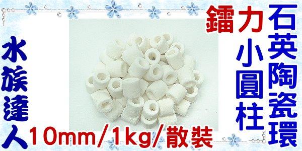 【水族達人】鐳力Leilih《小圓柱石英陶瓷環(10mm) 1kg/散裝》陶瓷濾材/多孔/適合硝化細菌的培養與繁殖