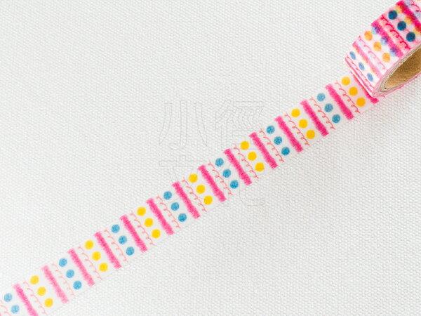 *小徑文化*日本進口和紙膠帶 Word carft系列 - 蠟筆塗鴉 ( W02-MK-T0012 )