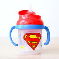 蝙蝠俠與超人周邊商品推薦日貨 正版超人曲線吸管練習杯 230mL 彈蓋 雙耳 水壺 兒童用喝水學習杯 Skater【N201087】