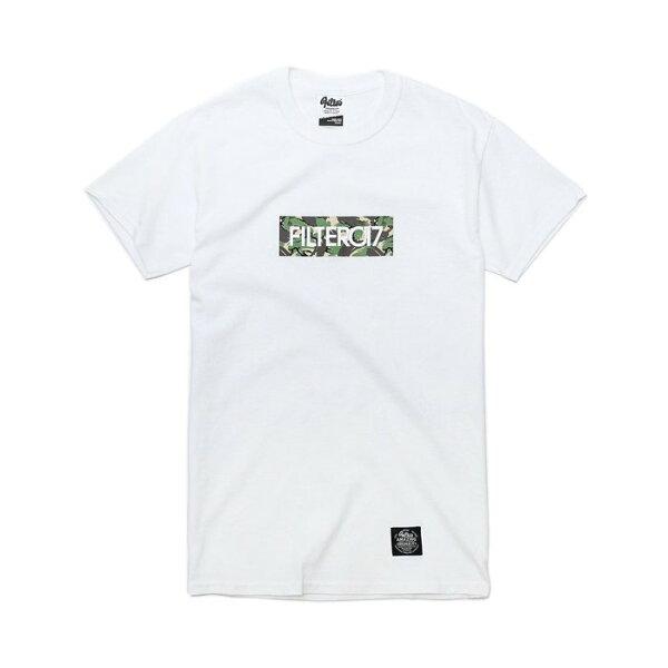 ►法西歐_桃園◄ Filter017 Camo Box Tee 迷彩 Logo 英文 字母 白 黑 共二色 短袖 白色