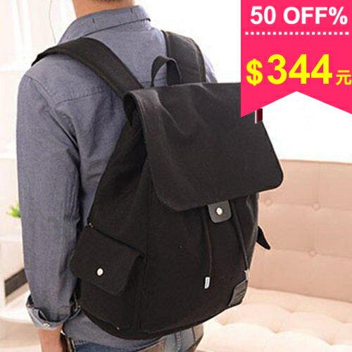 【限時5天滿799折100】後背包-韓版曠野氣息束口袋電腦包型男帆布後背包 包飾衣院  J1032 現貨+預購