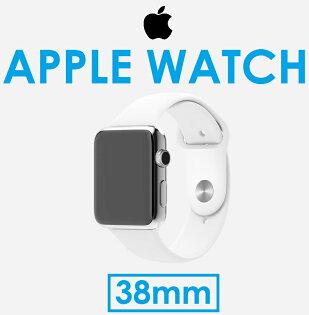 【原廠盒裝】蘋果 APPLE Watch不鏽鋼錶身 + 白運動錶帶 38mm 智慧型手錶 siri 互動 通話 訊息 郵件 健康 藍寶石水晶