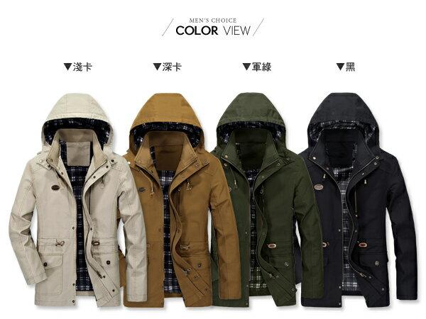 ☆BOY-2☆【NZ78009】軍裝硬挺皮標可拆式連帽外套 1