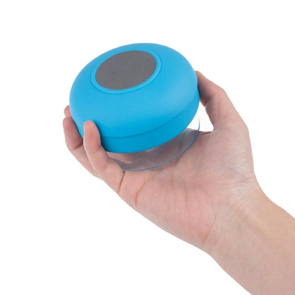 Altavoz Acuático Azul Celeste Waterproof con Ventosa, Bluetooth y Manos Libres 3