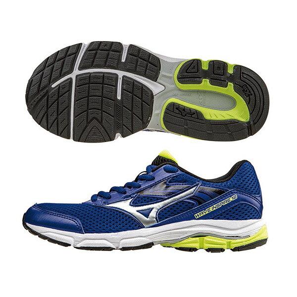 WAVE INSPIRE12 Jr. 支撐型童鞋 K1GC162703(深藍X銀)S【美津濃MIZUNO】