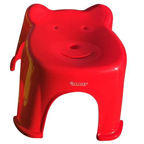 POLYWISE BI-5936 Q熊椅-中 四色(紅藍綠橘)可選/塑膠椅/板凳/椅子/休閒椅