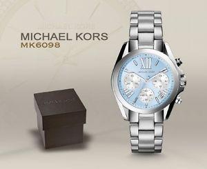 美國Outlet 正品代購 Michael Kors MK 簡約淺藍三環計時手錶腕錶 MK6098 0