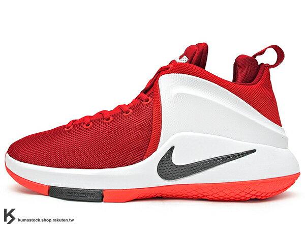 2016 NBA 小皇帝 JAMES 平價版子系列代言鞋款 NIKE LEBRON ZOOM WITNESS EP 紅白 騎士隊 ZOOM AIR 氣墊 耐磨橡膠底 (884277-600) 1016