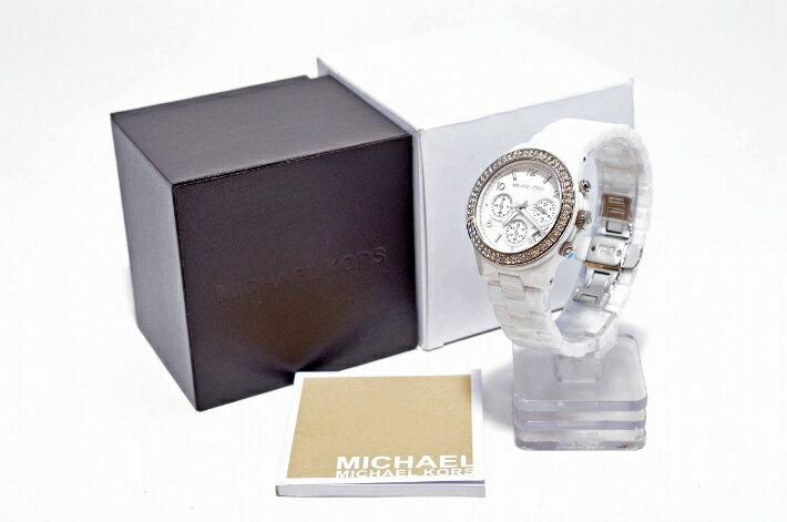 美國Outlet正品代購 MichaelKors MK 陶瓷 水鑽 三環 手錶 腕錶 MK5188 6
