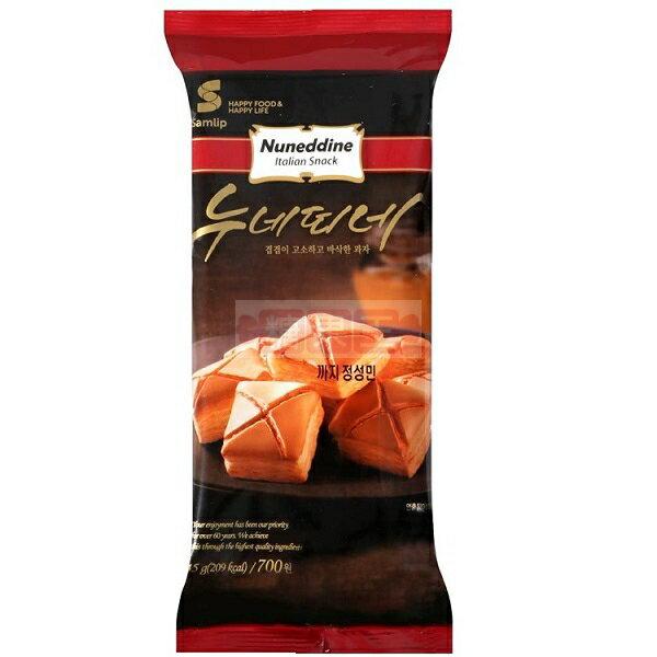 韓國餅乾 Samlip 義式酥餅 Nuneddine 義式焦糖奶油千層酥 一口酥 45g