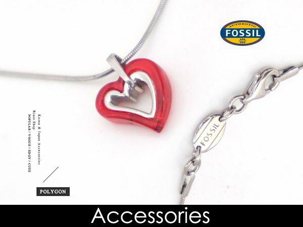 【完全計時】手錶館│ FOSSIL 經典時尚雙心項鍊 愛戀情人 甜心 禮物 限量包裝 短鍊 飾品JF82301040