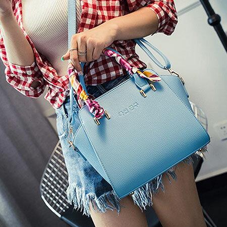 側背包 時尚質感絲巾手提包【O3142】☆雙兒網☆ 5