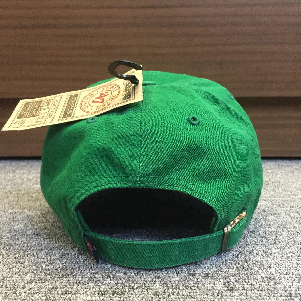 BEETLE 47 BRAND 老帽 波士頓紅襪 BOSTON RED SOX DAD 大聯盟 MLB 全綠 紅字 MN-410 1