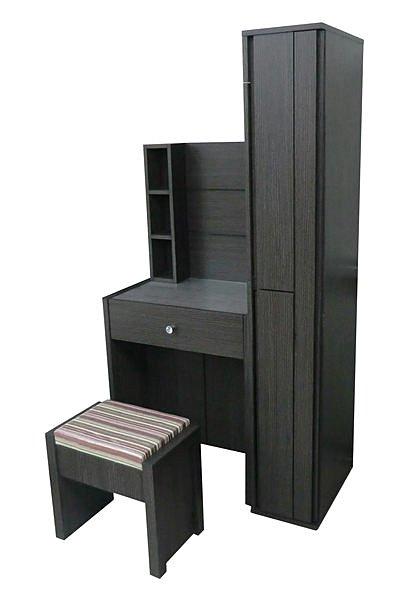 ~尚品 ~332~01 奧斯卡3.5尺銀絲鐵刀木紋化妝台 鏡台 化妝桌