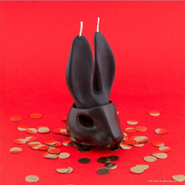 【Limiteria】The Jacks  兔眼汪汪哭泣蠟燭組(黑色小陶兔底座萬聖節 halloween) 趣味又療癒陶製桌上收納小物  可種小植物綠化生活