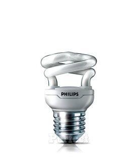 【PHILIPS ● 飛利浦】Tornado 5W(=25W) T2 迷你型螺旋省電燈泡 晝光色 / 燈泡色
