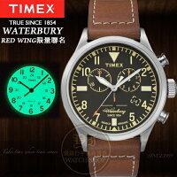 送男生聖誕交換禮物到TIMEX美國第一品牌x RED WING限量聯名Waterbury系列計時腕錶TXT2P84300公司貨/情人節/禮物