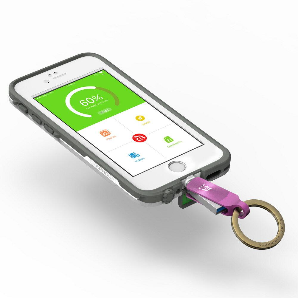 [預購] iKlips DUO + Apple 專用雙向USB 3.1 極速多媒體行動碟 64GB 7