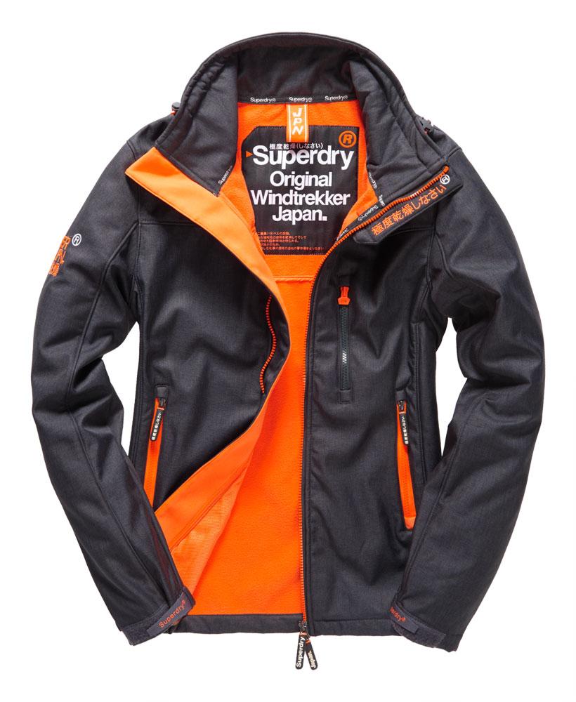 英國名品 代購 極度乾燥 Superdry Windtrekker 男士風衣戶外休閒外套 防水 深灰/螢光橙 0