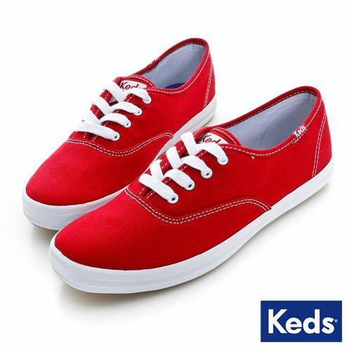 Keds 品牌經典休閒鞋-紅(限量) 套入式│懶人鞋│平底鞋│綁帶 0