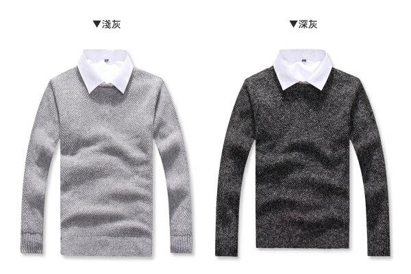 ☆BOY-2☆【PPK86033】情侶韓系圓領粗針織素面毛衣 1