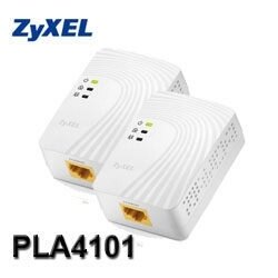 [nova成功3C]ZyXEL合勤 PLA-4101 (雙包裝) 迷你型電力線網路橋接器